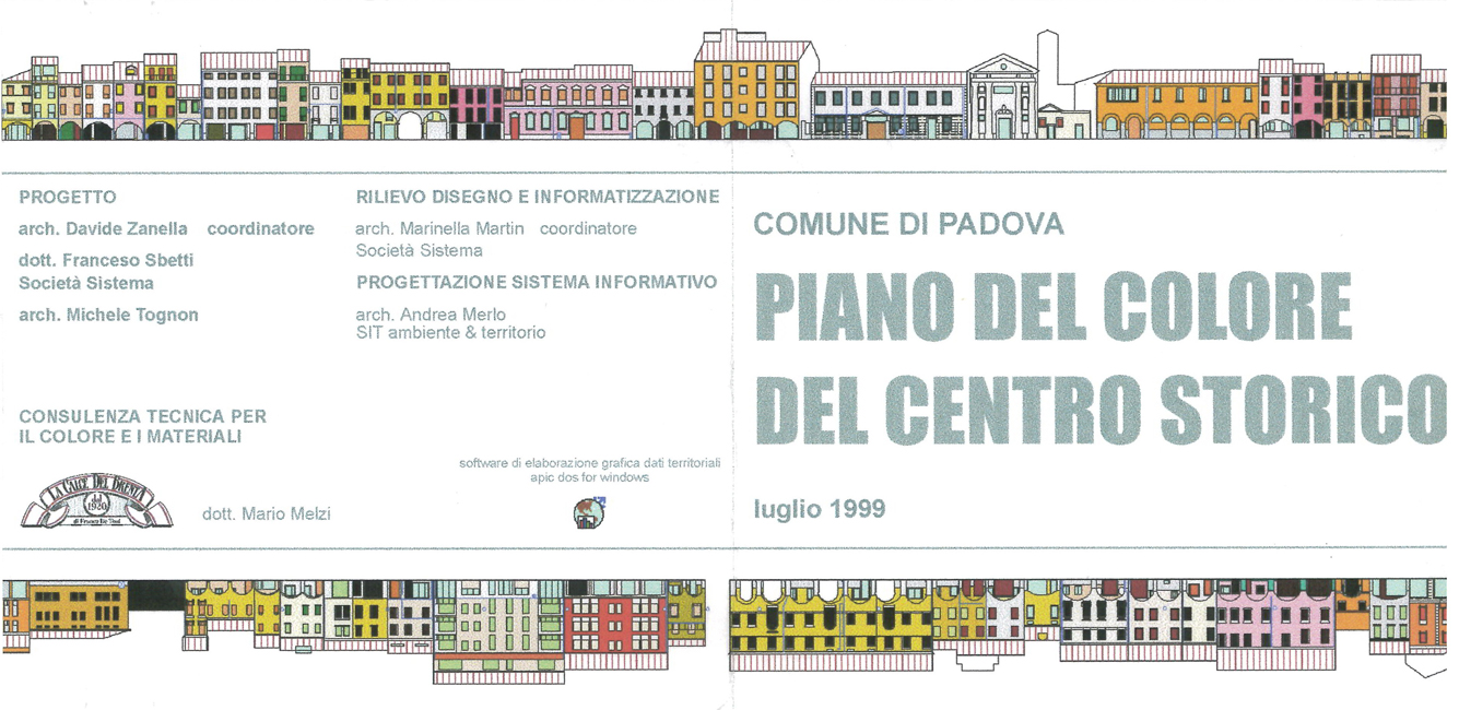 Piano del colore del comune di padova pd sistema s n c for Progettazione del piano casa